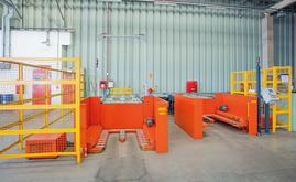 Before entering the automated warehouse, goods must pass through the checkpoint