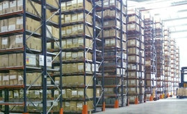 The surface area of the warehouse has been optimized using M7 Heavy Duty Shelving from Mecalux
