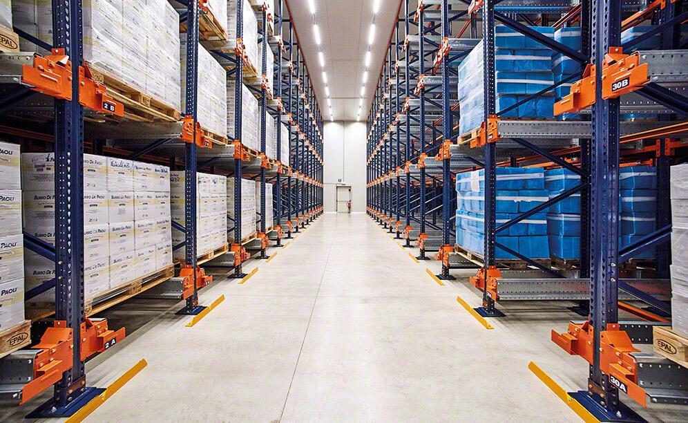 The warehouse is set up to house 1,494 pallets that are 800 x 1,200 mm in size